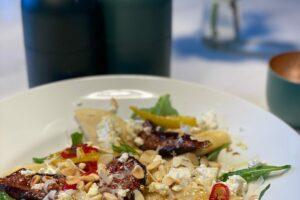 Walnuss-Feigen Ravioli mit karamellisierten Feigen