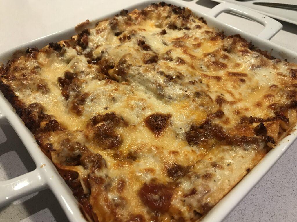 Lasagne mit Hackfleischsoße